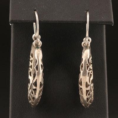 900 Silver Openwork Earrings