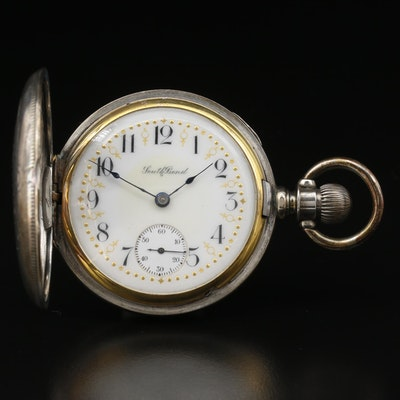 1909 South Bend Coin Silver Hunting Case Pocket Watch