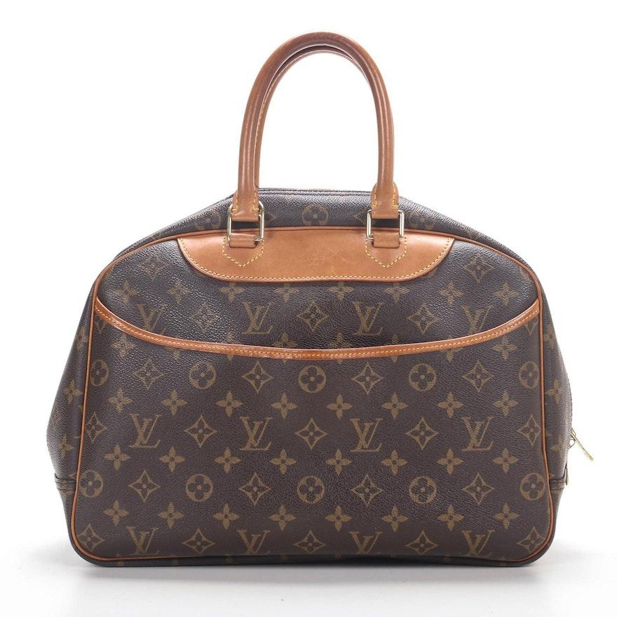 Louis Vuitton Deauville Satchel in Monogram Canvas and Vachetta Leather
