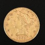 1893 Liberty Head $5 Gold Half Eagle