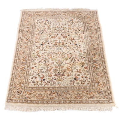 6'1.5 x 9'0 Hand-Knotted Persian Tabriz Wool Rug