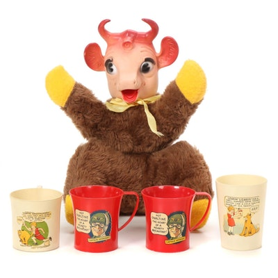 """""""Little Orphan Annie,"""" """"Captain Midnight"""" Ovaltine Cups and """"Elsie the Cow"""""""