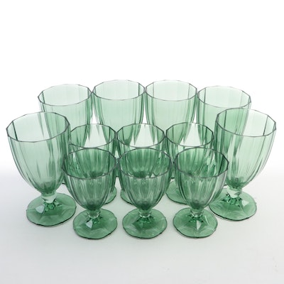 "Villeroy & Boch ""My Garden"" Green Iced Tea and Claret Wine Glasses"