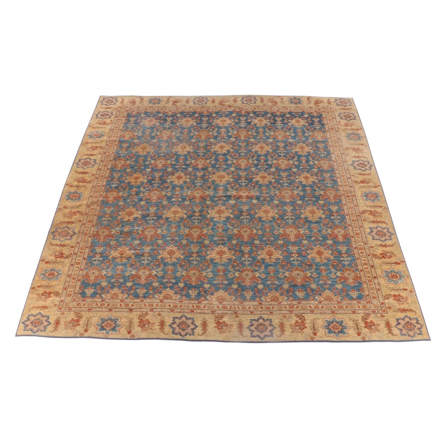 11'1 x 13'0 Machine Made Floral Area Rug