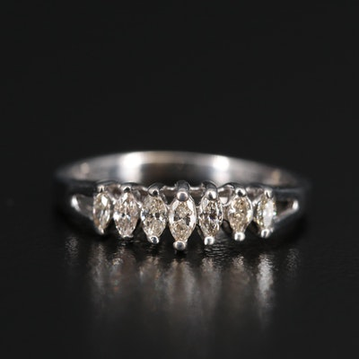 14K Marquise Cut Diamond Ring