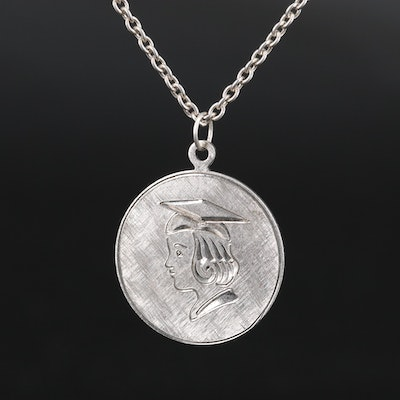 Sterling Silver Graduate Pendant Necklace