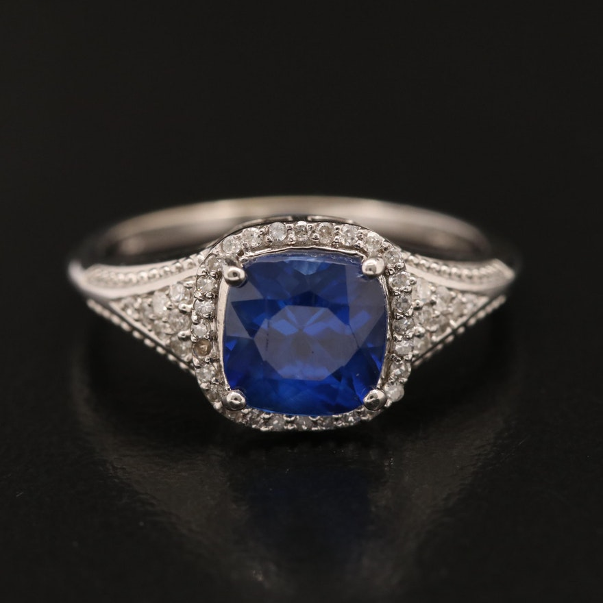 14K Kyanite and Diamond Ring