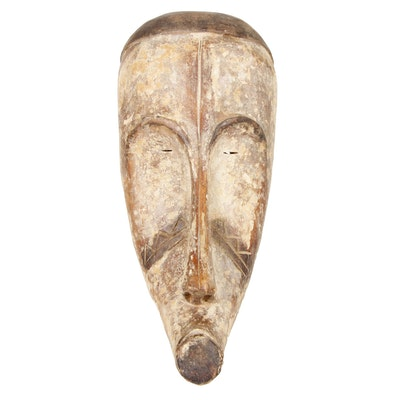Fang Carved Wood Mask, Central Africa