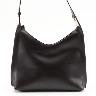 Gucci Shoulder Bag in Dark Brown Smooth Leather
