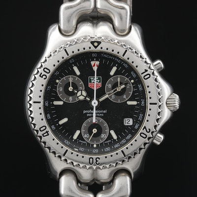 TAG Heuer S/eL Chronograph Stainless Steel Quartz Wristwatch