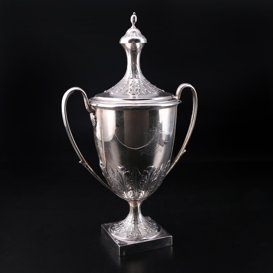 Edward Barnard and Sons of London Sterling Silver Urn, 1906