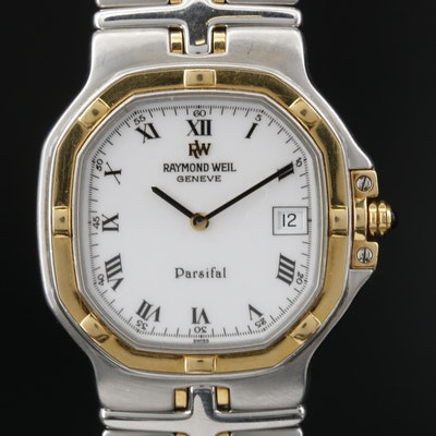 Raymond Weil Parsifal 18K Gold and Stainless Steel Quartz Wristwatch