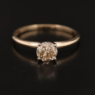 14K 0.75 CT Diamond Solitaire Ring