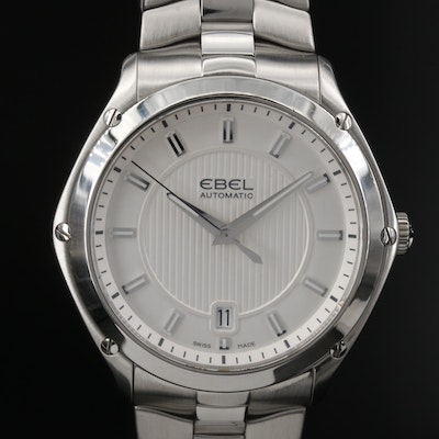 Ebel Classic Sport Stainless Steel Automatic Wristwatch