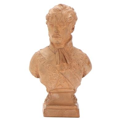 Joseph Chinard Terracotta Portrait Bust of Prince Eugène de Beauharnais