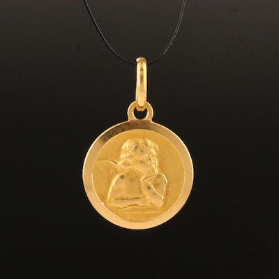 18K Angel Pendant