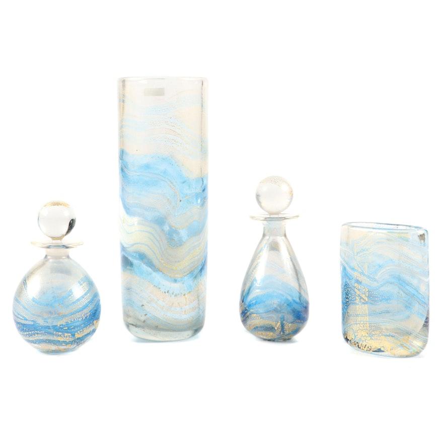 Gozo Maltese Art Glass Vases and Perfume Bottles
