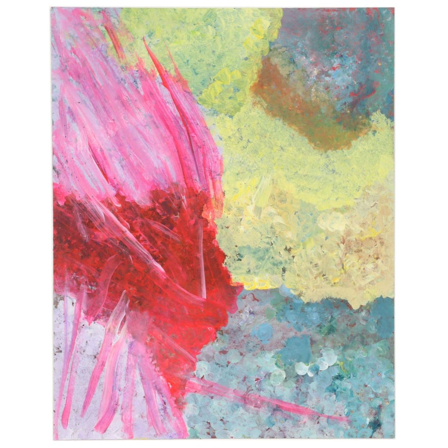 Sarah Harris Acrylic Painting of Abstract Composition