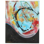 Kurt Shaw Acrylic Painting of Abstract Expressionist Composition