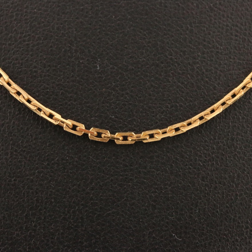 14K Chain Link Necklace