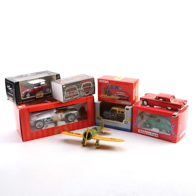 Collector Series U.S. Mail Airplane Bank and Diecast Model Cars