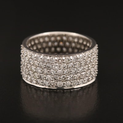 Platinum 4.08 CTW Pavé Diamond Eternity Band