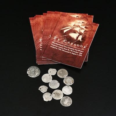 Ten 18th Century Silver El Cazador Shipwreck Coins