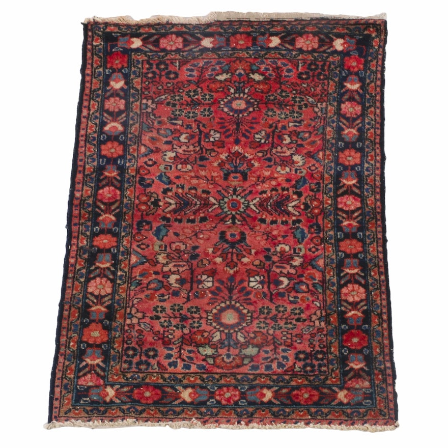 2'6 x 3'11 Hand-Knotted Persian Sarouk Wool Rug