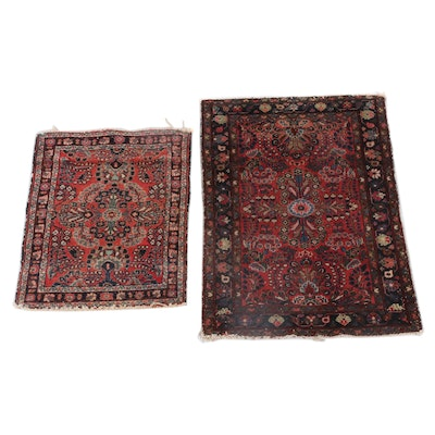 2'6 x 3'10 Hand-Knotted Persian Sarouk Wool Rugs