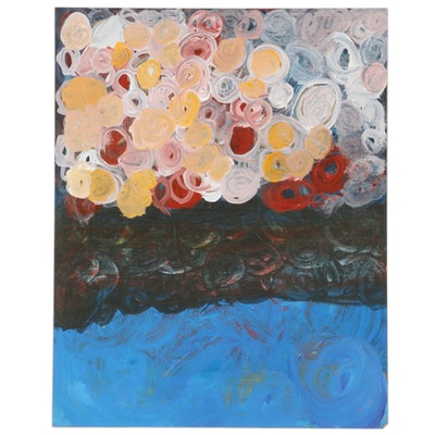 Sarah Harris Abstract Acrylic Painting, 21st Century