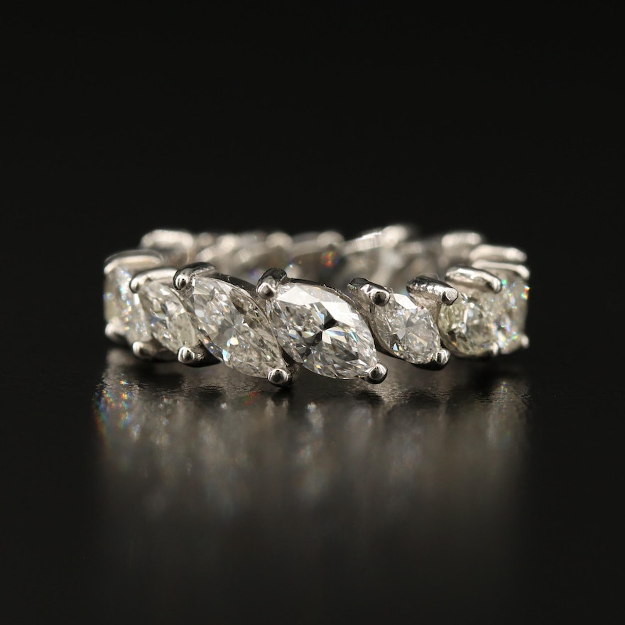 Platinum 4.06 CTW Diamond Eternity Band