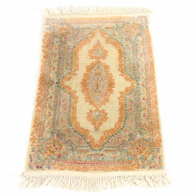1'11 x 3'4 Hand-Knotted Persian Kerman Accent Rug
