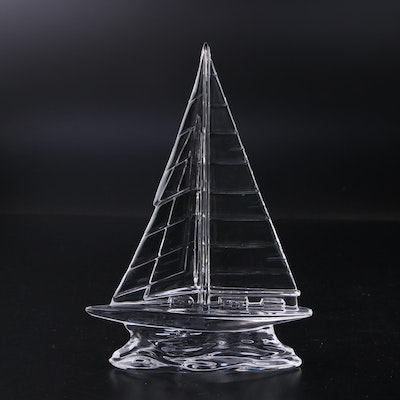 Waterford Crystal Sailboat Figurine