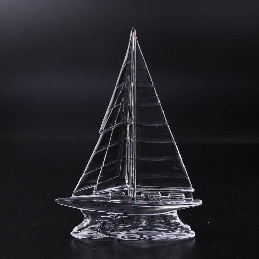 Waterford Crystal Sailboat Figurine