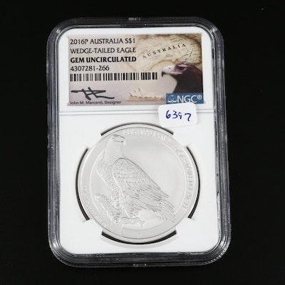 NGC Graded Gem Uncirculated 2016-P Australia Wedge-Tailed Eagle Bullion Coin