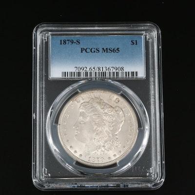 PCGS Graded MS65 1879-S Morgan Silver Dollar