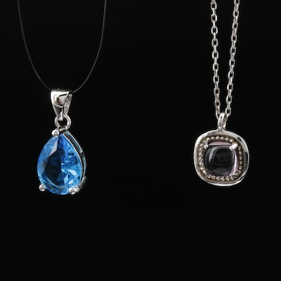 Sterling Silver Adjustable Necklace and Pendant