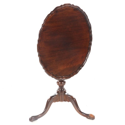 George III Style Mahogany Tilt-Top Tripod Table, 20th Century