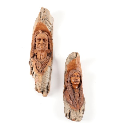 Ron Foreman Hand-Crafted Wooden Figural Sculptures