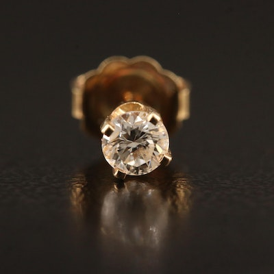 14K Diamond Single Stud Earring