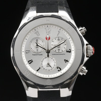 Michele Tahitian Chronograph Stainless Steel Quartz Wristwatch