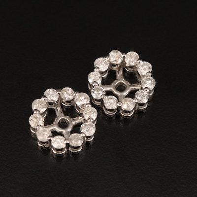 10K 1.30 CTW Diamond Earring Jackets