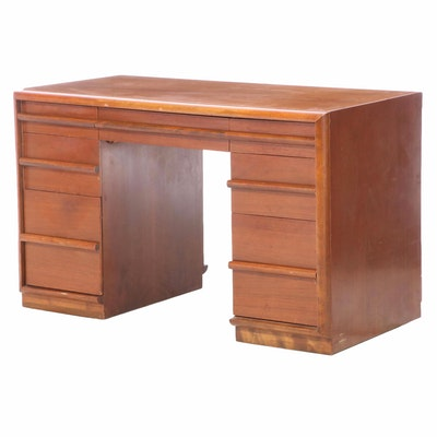 TH Robsjohn-Gibbings for Widdicomb Mid Century Modern Walnut Desk