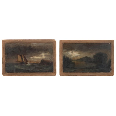 Nautical and Landscape Oil Paintings, Early 20th Century