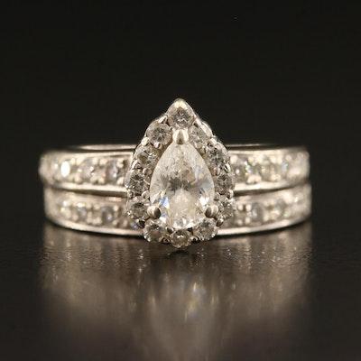 14K 1.34 CTW Diamond Ring Set