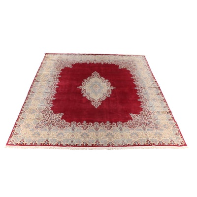 13'9 x 19'5 Hand-Knotted Persian Kerman Palace Sized Wool Rug