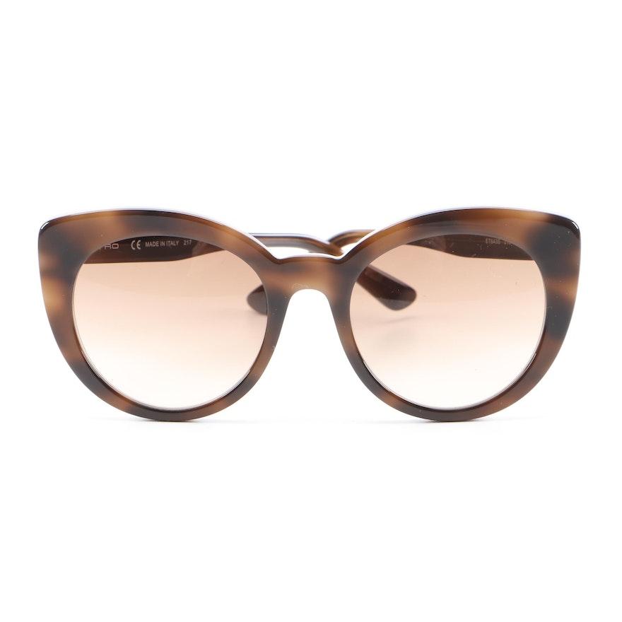 ETRO ET643S Dark Havana Cat Eye Sunglasses with Case