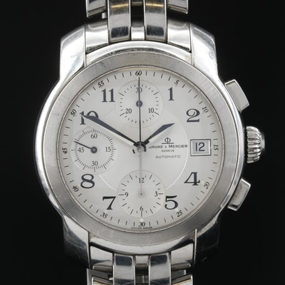 Baume & Mercier Capeland Stainless Steel Chronograph Automatic Wristwatch
