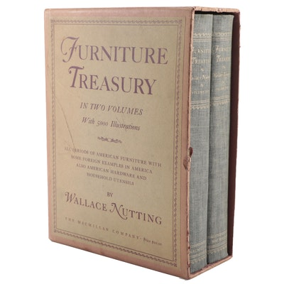 "Illustrated ""Furniture Treasury"" Two-Volume Set by Wallace Nutting, 1948"