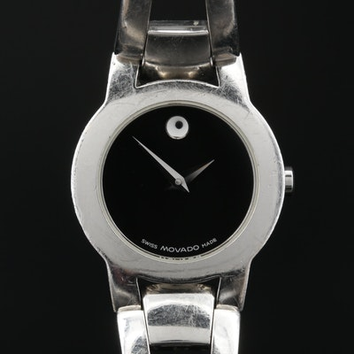 Movado Amorosa Stainless Steel Quartz Wristwatch